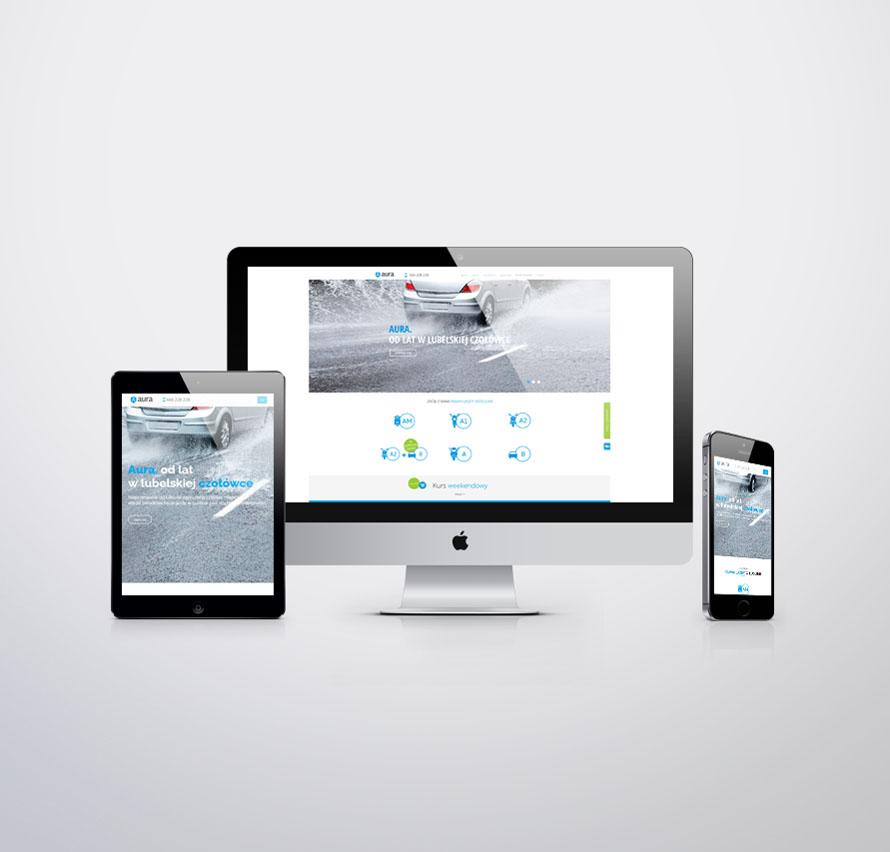 Nowoczesna mobilna strona internetowa