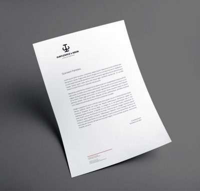 Studio graficzne - projekt papieru firmowego