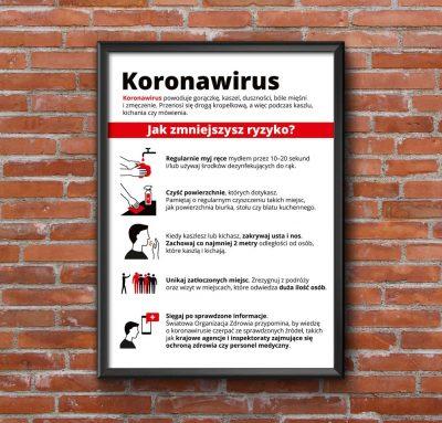 Koronawirus – gotowe materiały informacyjne iostrzegawcze